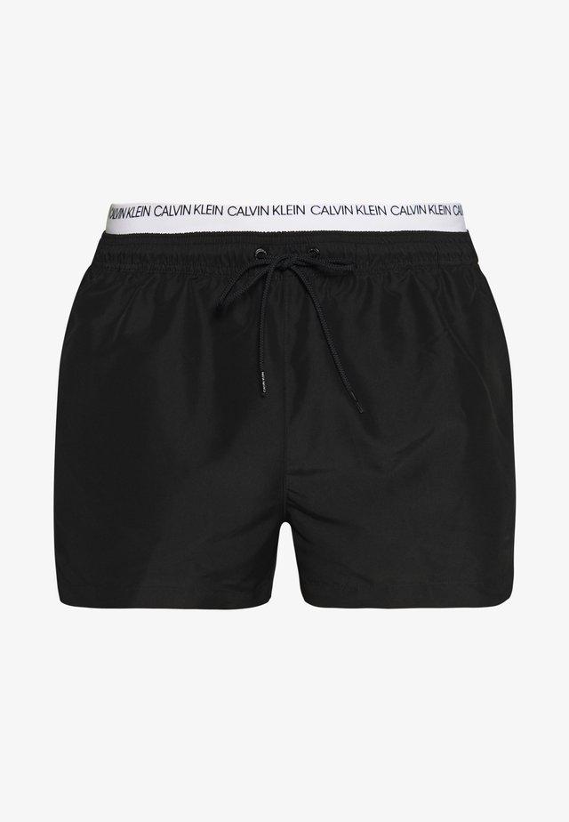 DOUBLE - Shorts da mare - black