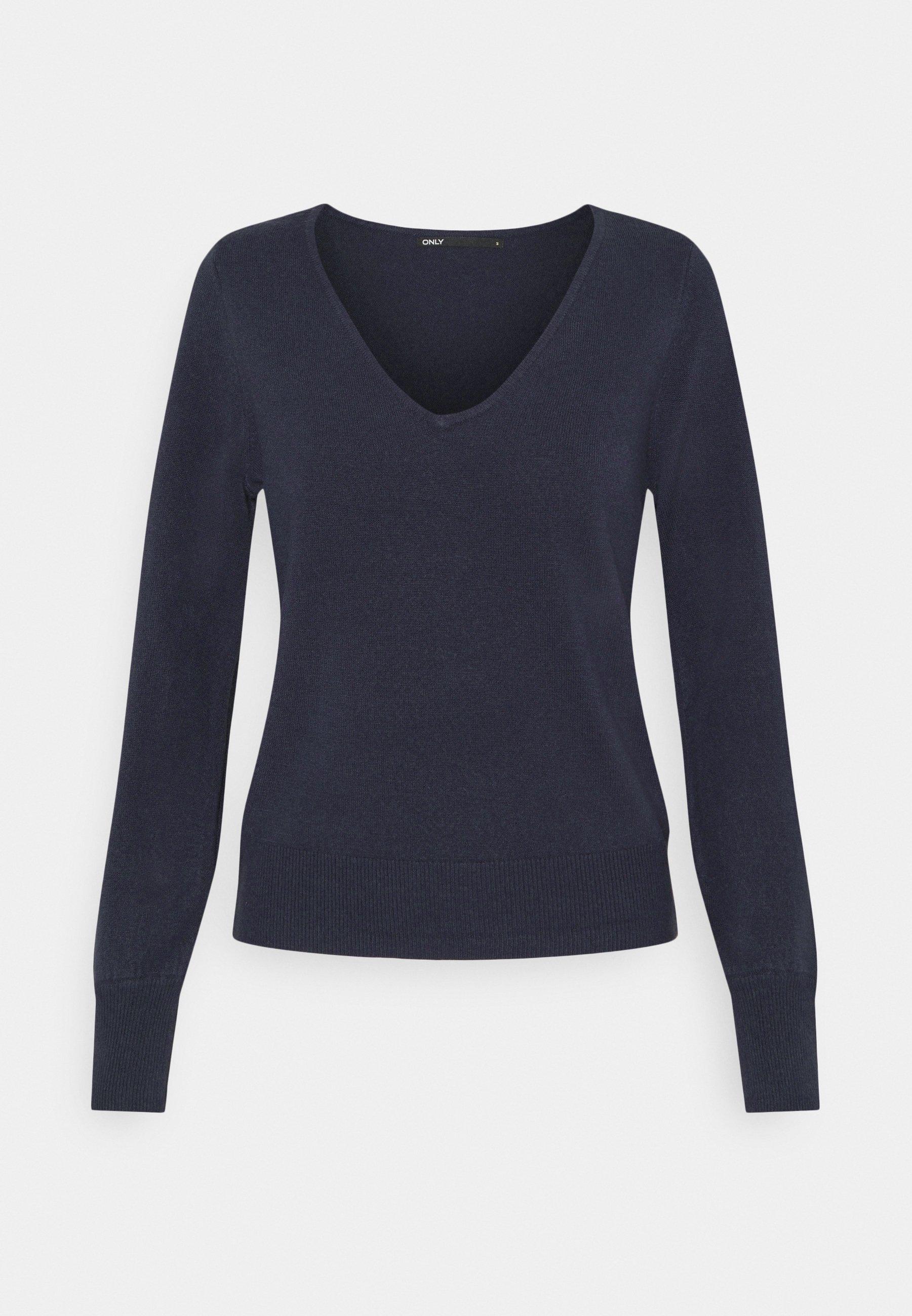 Femme ONLAMALIA V-NECK SLIM - Pullover