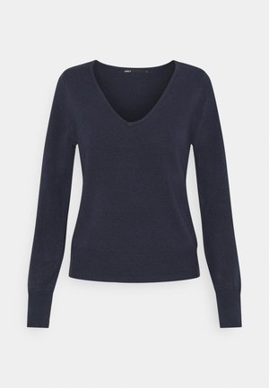 ONLAMALIA V-NECK SLIM - Jumper - night sky