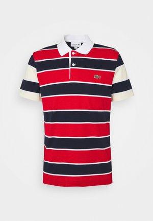 Polo shirt - rouge/marine naturel/clair blanc