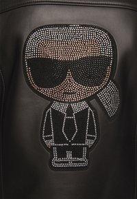KARL LAGERFELD - IKONIK  BIKER JACKET - Leather jacket - black - 6