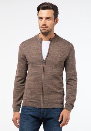 IN DOUBLEFACE-OPTIK - Zip-up sweatshirt - brown