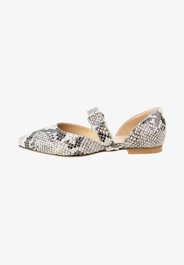 VAZIA - Ballerina's met enkelbandjes - grey