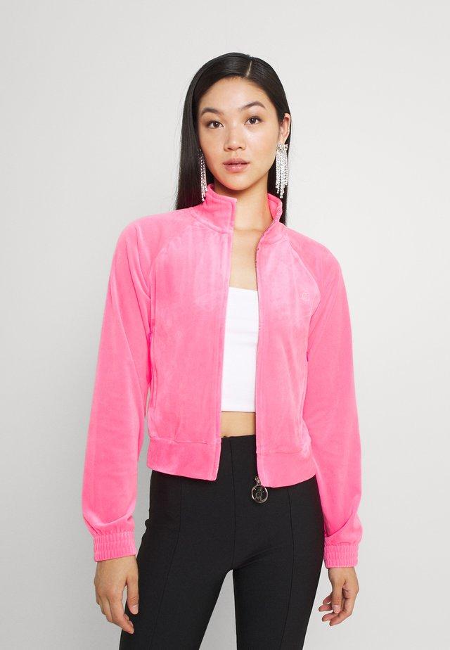TANYA TRACK - Sweater met rits - fluro pink