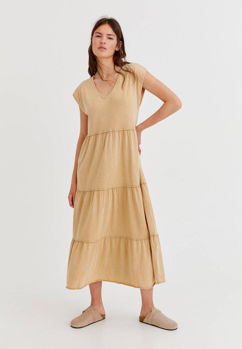 PULL&BEAR - Denní šaty - mottled beige