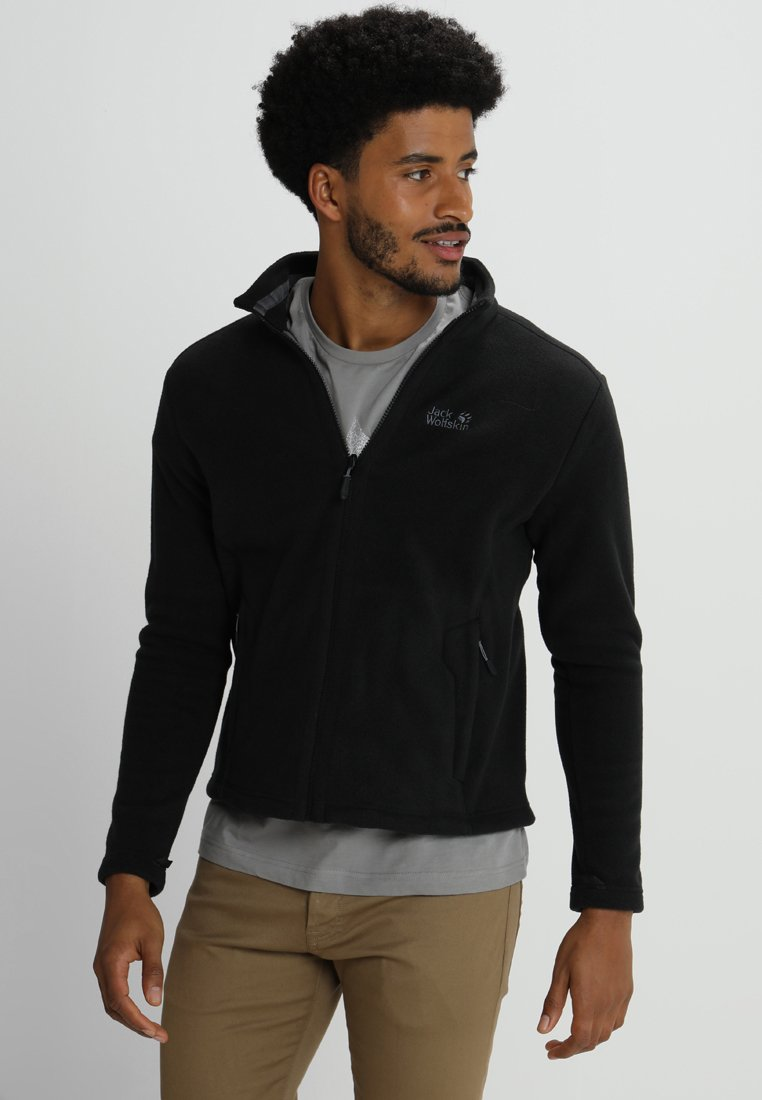 Jack Wolfskin - MOONRISE JACKET MEN - Fleece jacket - black