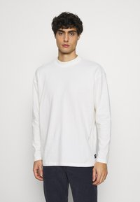 TOM TAILOR DENIM - HIGH COLLAR - Long sleeved top - white - 0