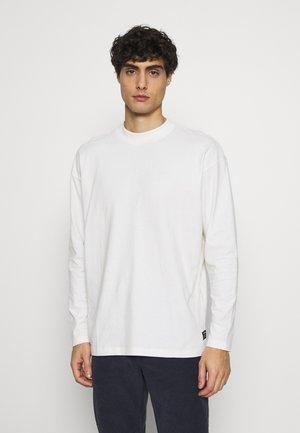 HIGH COLLAR - Long sleeved top - white