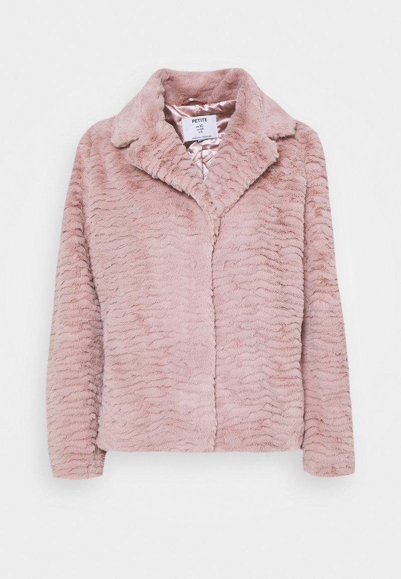 Dorothy Perkins Petite - WAVE COLLAR AND REVERE COAT - Winter jacket - pink