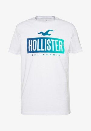 PRINT LOGO - Print T-shirt - white