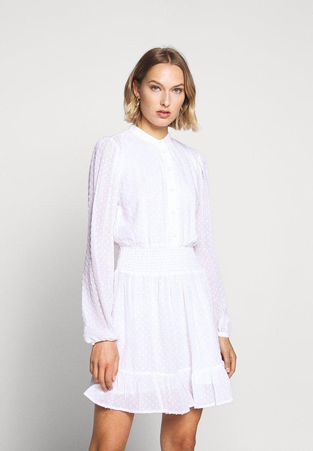 CLIP DOTS DRESS - Shirt dress - white