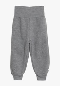 Müsli by GREEN COTTON - WOOLLY PANTS BABY - Tygbyxor - pale grey marl - 0