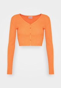 Glamorous - V NECK CROP WITH BUTTON DETAIL - Cardigan - orange - 3
