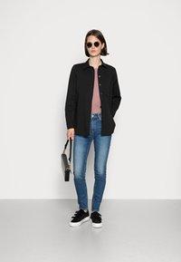 Marc O'Polo - OVERSHIRT LONG - Button-down blouse - black - 1