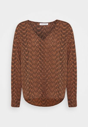 ONLLIMA V NECK  - Long sleeved top - black/orange