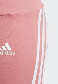 adidas Performance - STRIPES COTTON LEGGINGS - Leggings - pink - 5