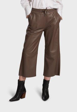 Leather trousers - mocha