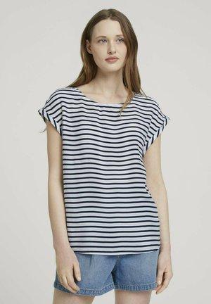 Bluser - navy white stripe