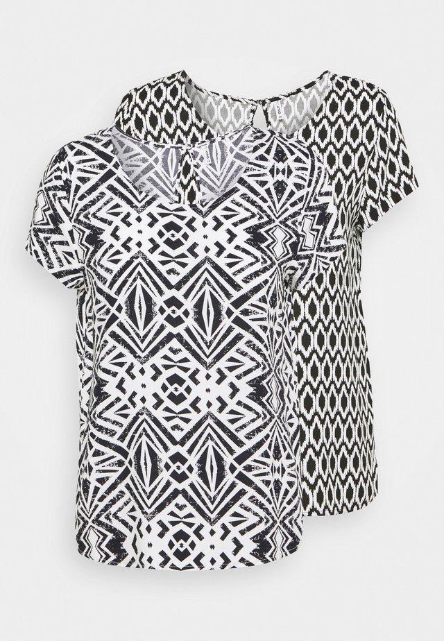 ONLFIRST ONE LIFE 2 PACK - T-shirt con stampa - black
