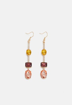 PCLOLA EARRINGS - Boucles d'oreilles - gold-coloured/clear/yelloe/purple/rose