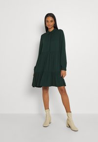 Vila - VIMOROSE SHIRT DRESS - Day dress - darkest spruce - 0