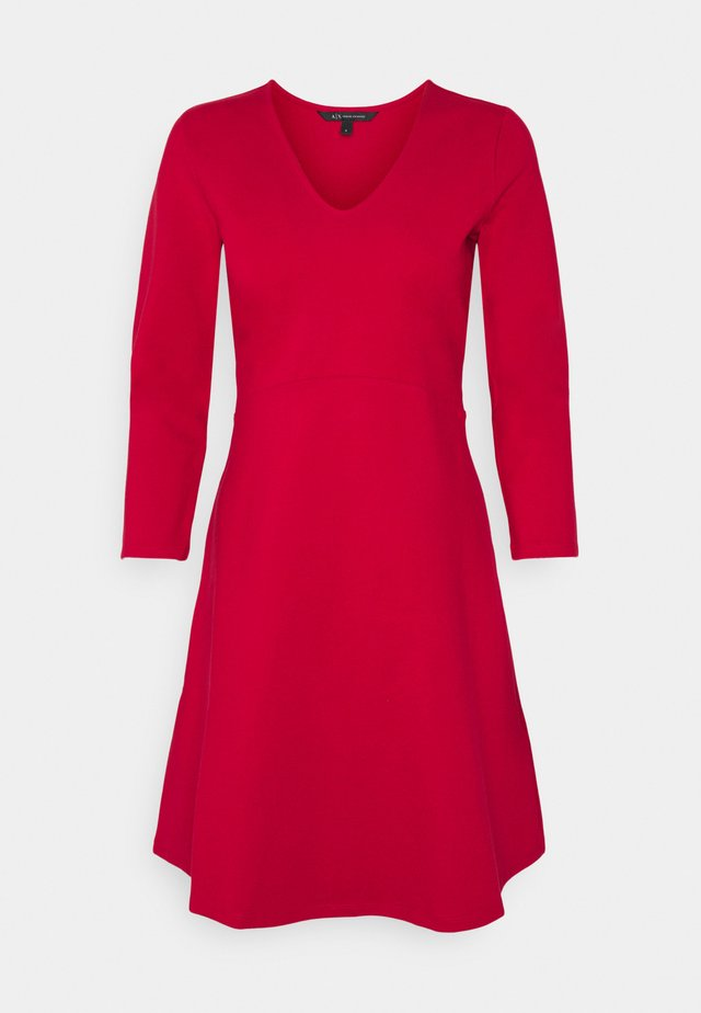 DRESS - Jersey dress - red liquorice