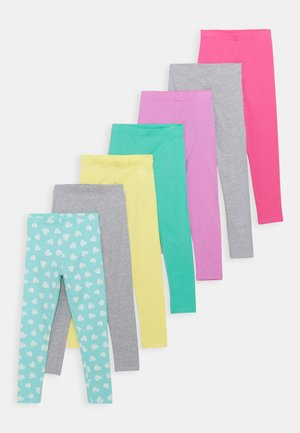 7 PACK - Leggings - Hosen - light blue/pink