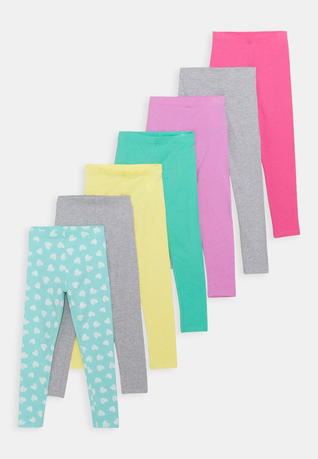 7 PACK - Legging - light blue/pink