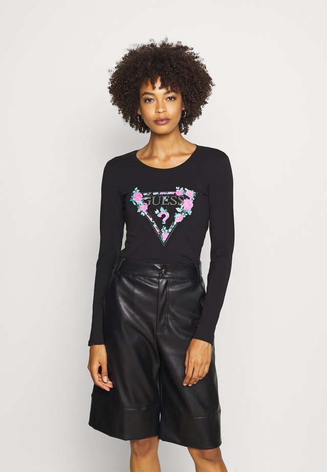 VILMA  - Long sleeved top - jet black