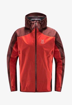 L.I.M COMP JACKET  - Outdoor jacket - habanero/maroon red
