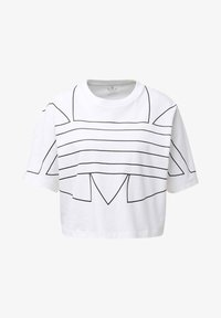adidas Originals - LARGE LOGO T-SHIRT - Camiseta estampada - white - 8