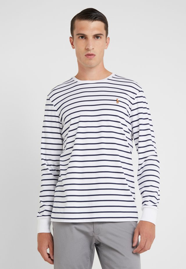 Long sleeved top - white/french navy