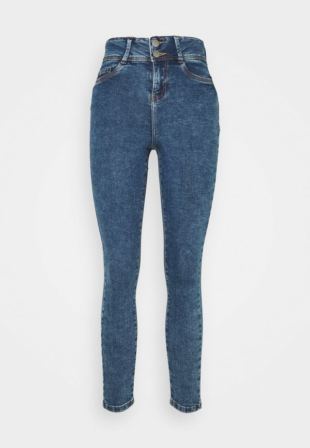 NMAGNES BUTTON  - Jeans Skinny Fit - medium blue denim