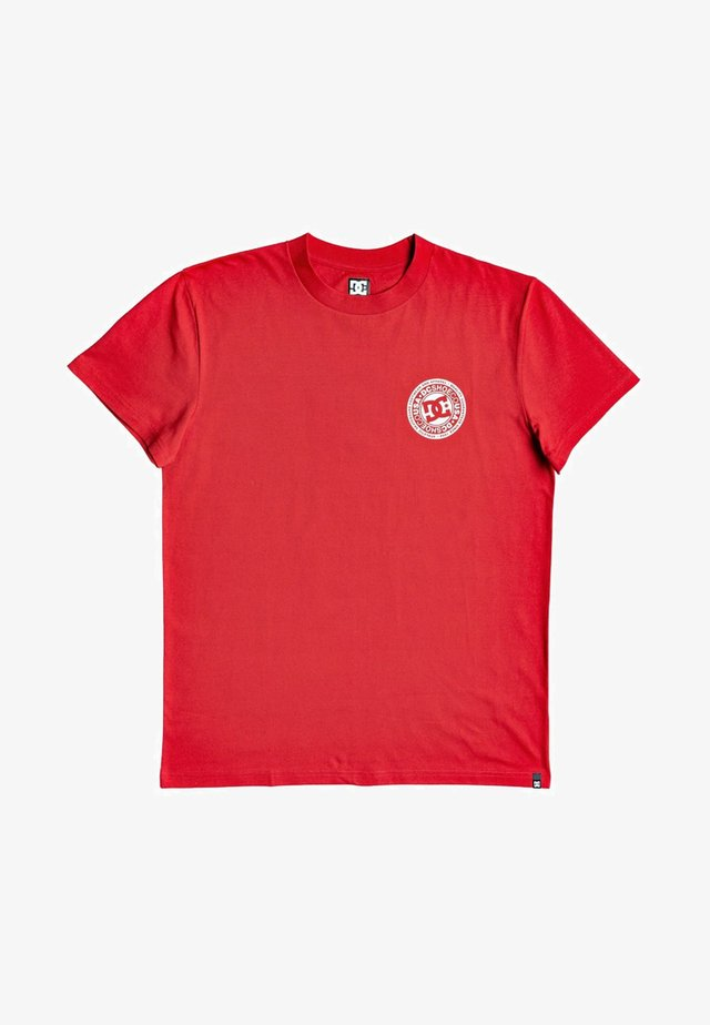 CIRCLE STAR - T-shirt imprimé - racing red/snow white