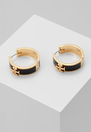 KIRA HUGGIE EARRING - Earrings - gold-coloured/black