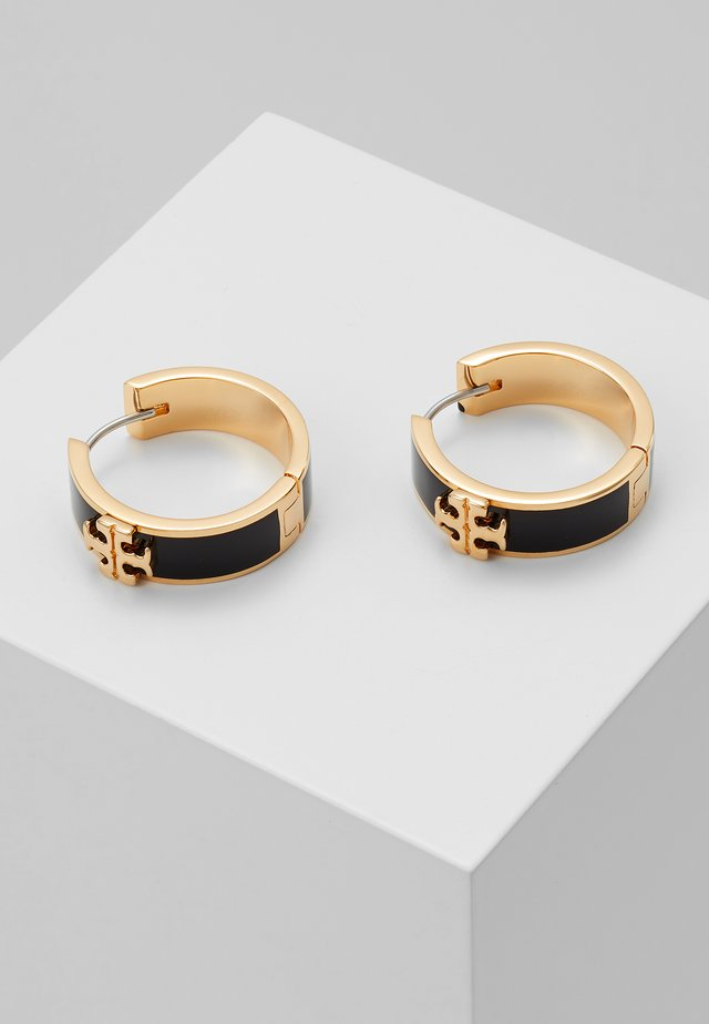 KIRA HUGGIE EARRING - Korvakorut - gold-coloured/black