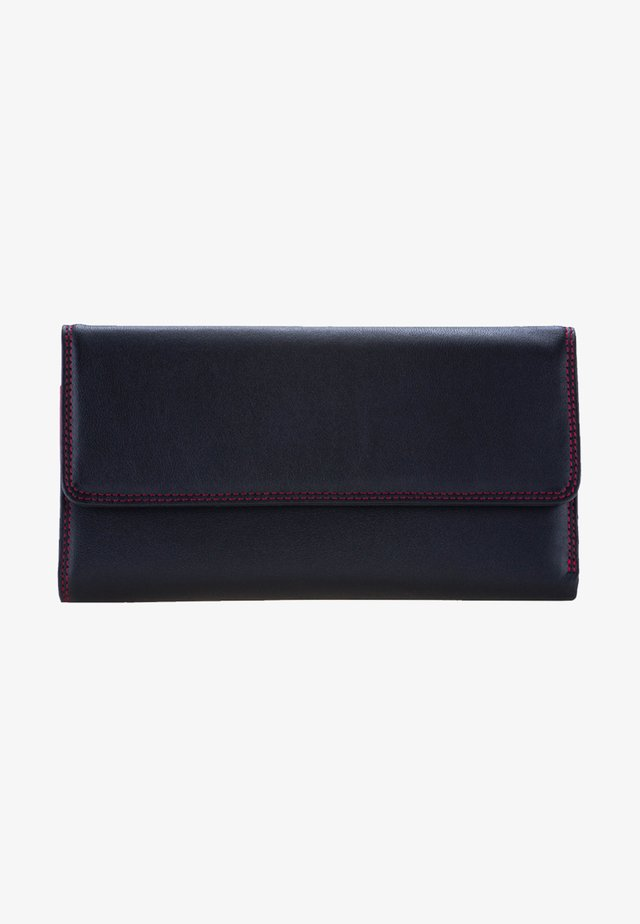 TRI FOLD WITH OUTER ZIP - Wallet - black