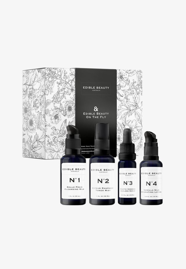 EDIBLE BEAUTY ON THE FLY SET - TRAVEL MINIS - Skincare set - -