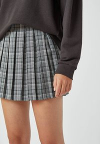 PULL&BEAR - A-line skirt - mottled grey - 3