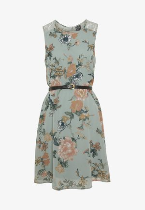 VMSUNILLA SHORT DRESS - Day dress - chinois green