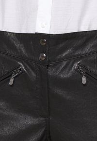 Belstaff - FREYA TROUSER - Leather trousers - black - 3