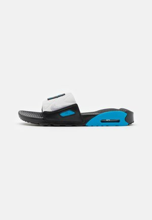 AIR MAX 90 SLIDE - Sandalias planas - black/wolf grey/laser blue/white