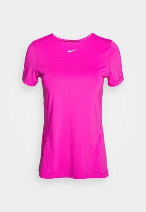 ALL OVER - Basic T-shirt - active fuchsia/white