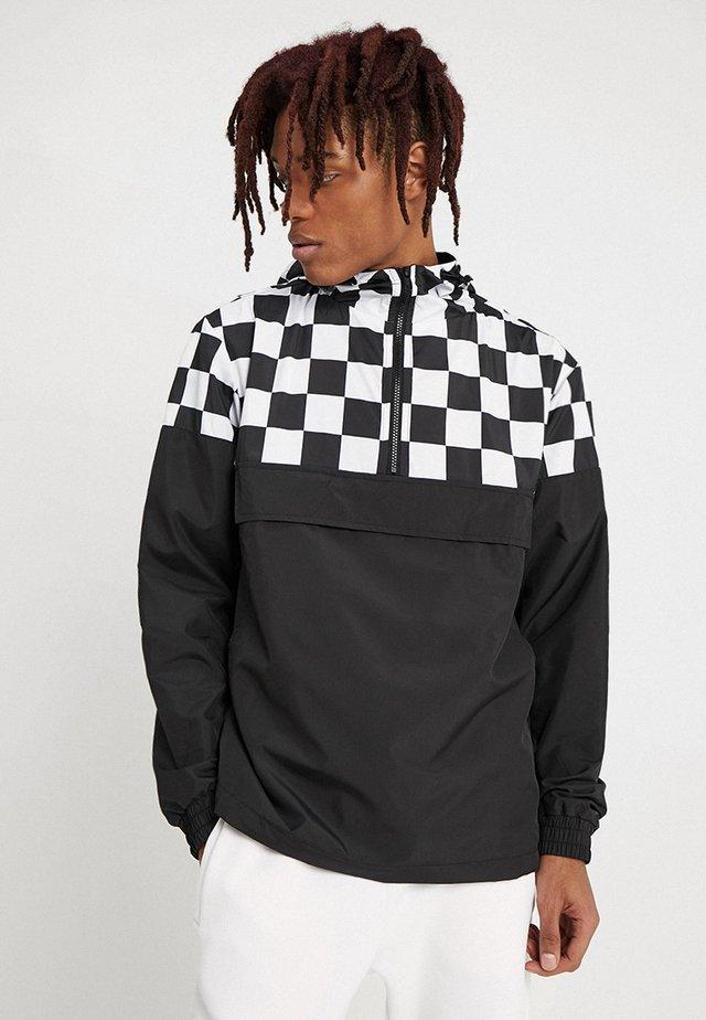 CHECK PULL OVER JACKET - Windbreaker - black/chess