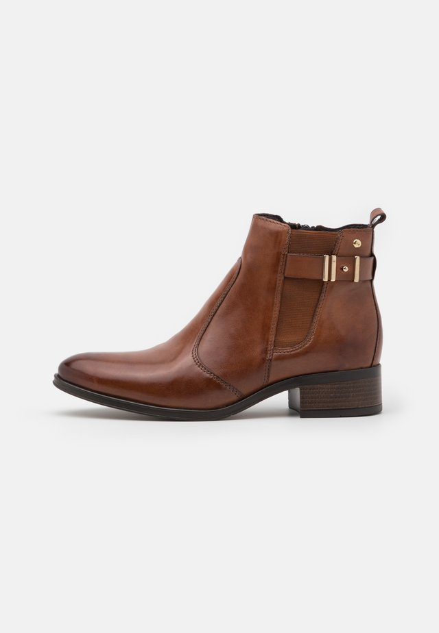 LEATHER - Boots à talons - cognac