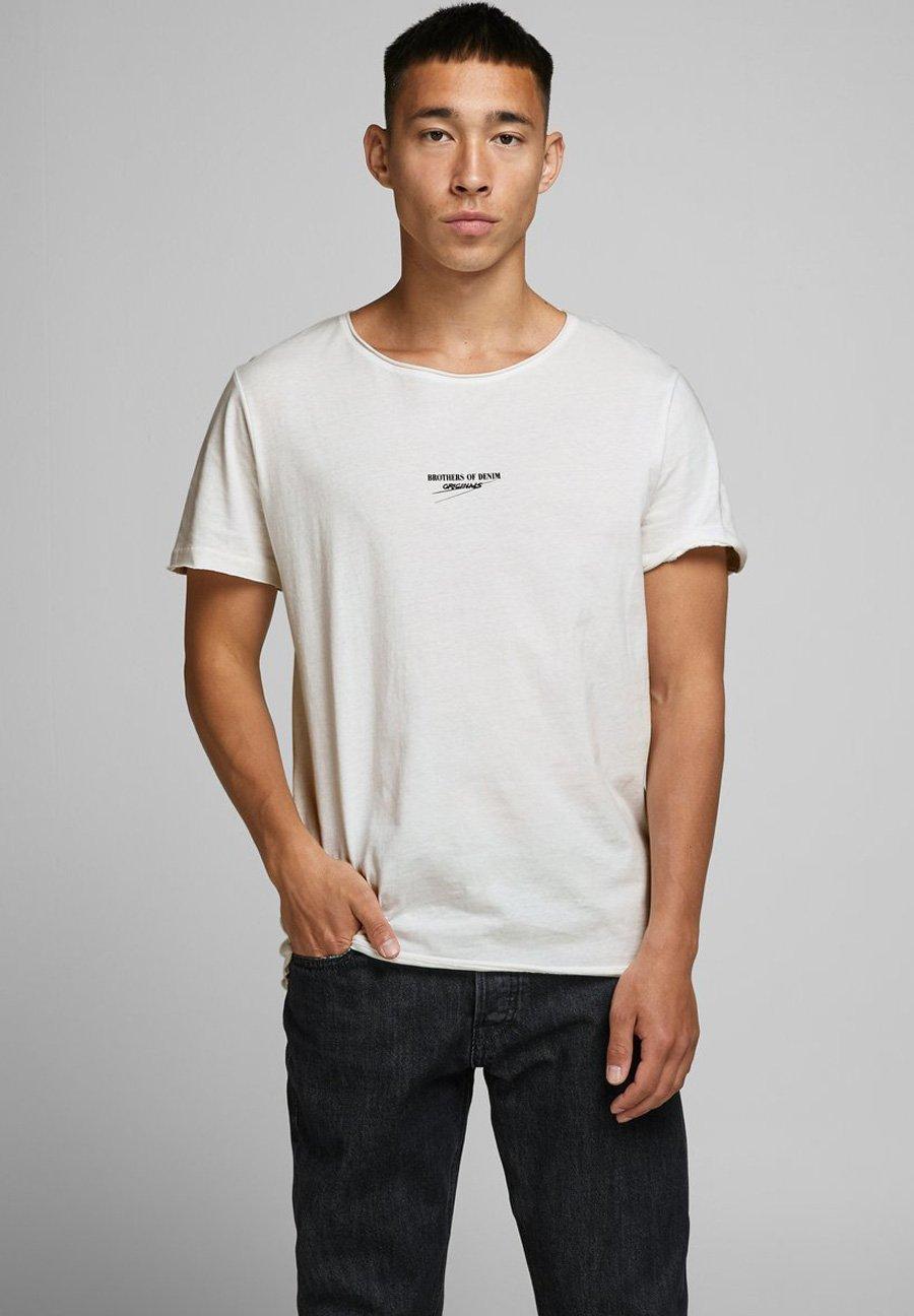 Jack & Jones Print T-shirt - cloud dancer Ar0Ra