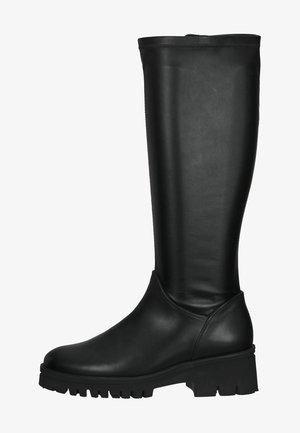 Kozaki na platformie - schwarz