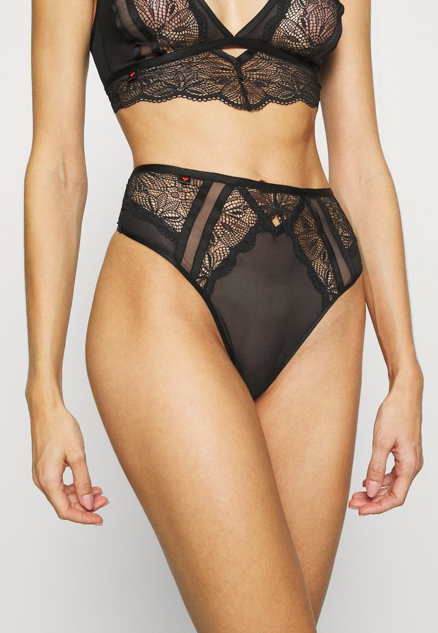 THE ADMIRER THONG - String - black