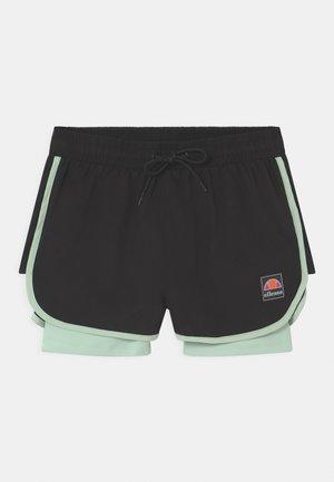 MAYLIA - Pantalón corto de deporte - black/light green