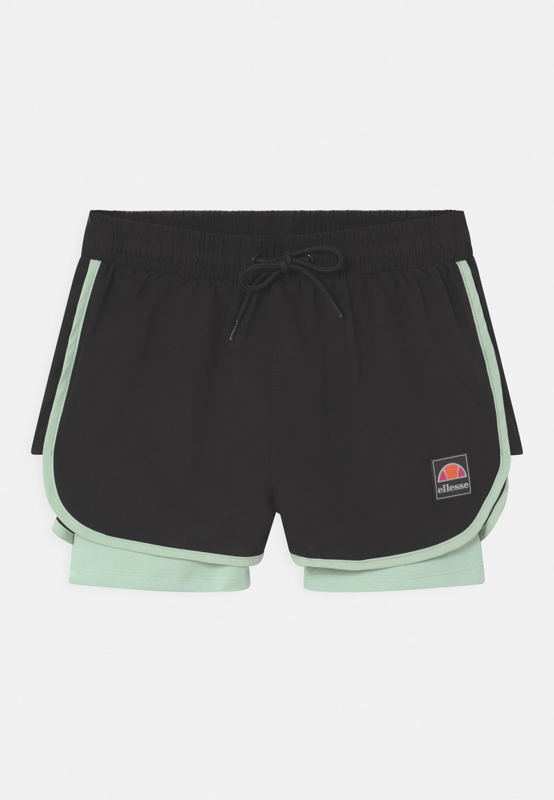 Ellesse - MAYLIA - Krótkie spodenki sportowe - black/light green